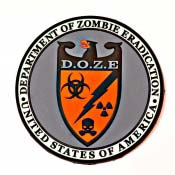 Department of Zombie Eradication 3D PVC Patch Z.E.R.T.
