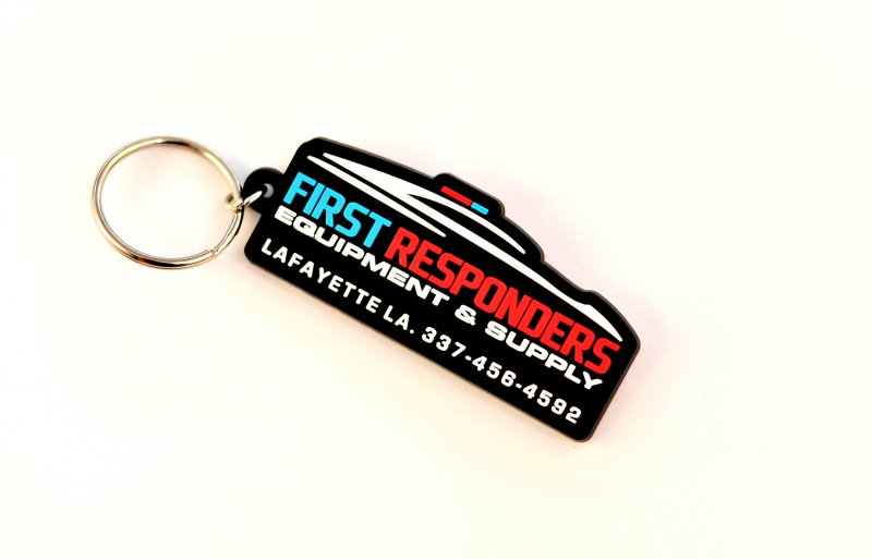 2D First Responders PVC Keychain