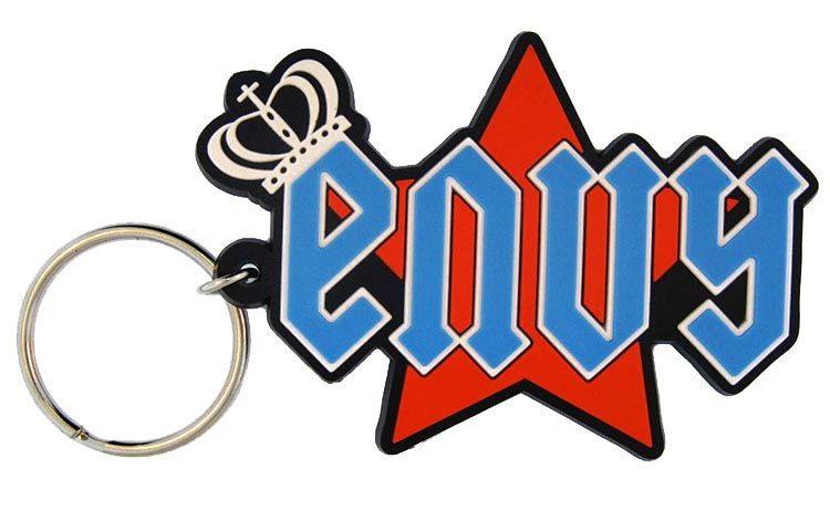 2d custom pvc keychains - envy