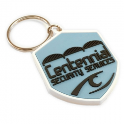 centennial security services rubber keychain