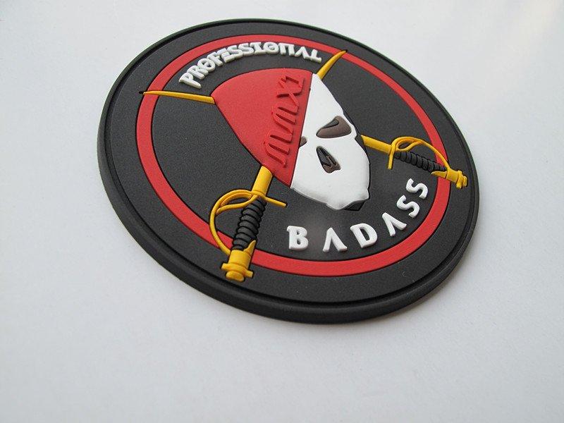 3D PVC Patches Professional Badass