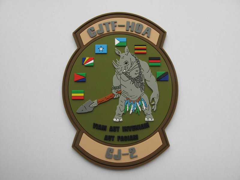 2D Rhino Military PVC Patch