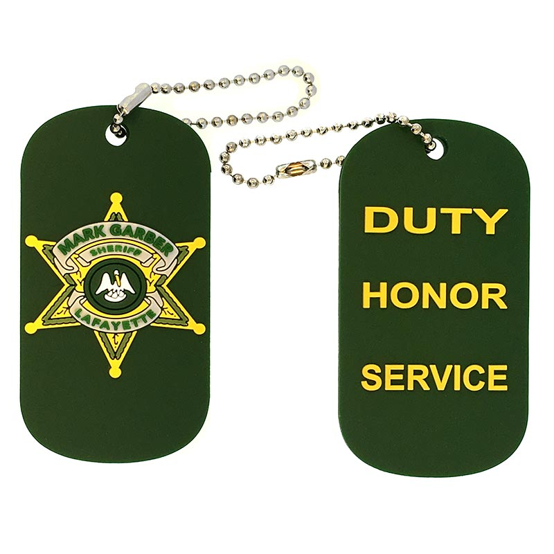 Lafayette Sheriff PVC Dog Tags