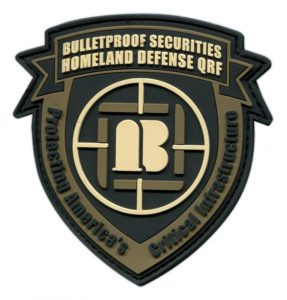 Bullet Proof Securities custom military Patch