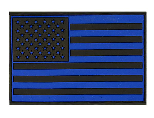 US Flag - Velcro PVC Patch - Blue Black