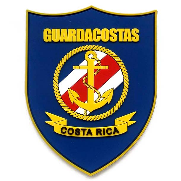 Patches de PVC para el Guarda Costas de Costa Rica