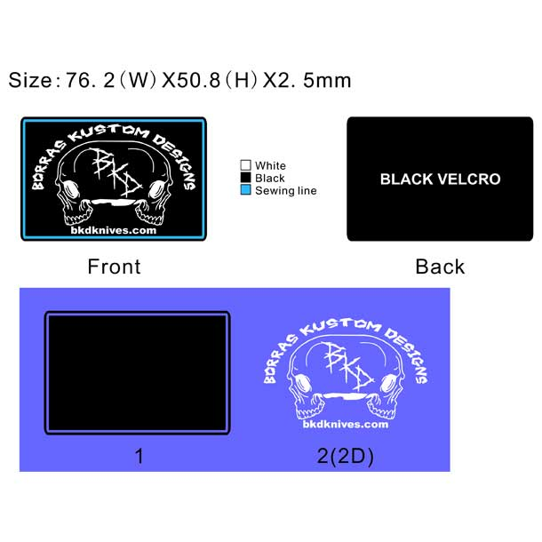 BD Knives PVC Patch Artwork