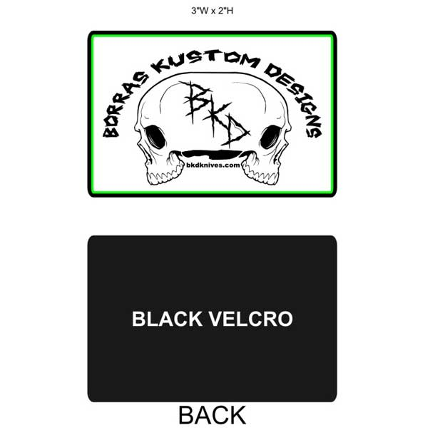 BKD Knives Logo Back and Front