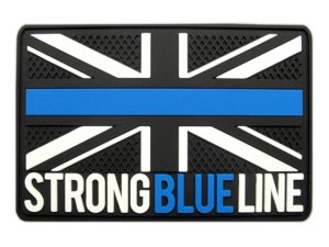 Strong Blue Line PVC Patch - England with Texture