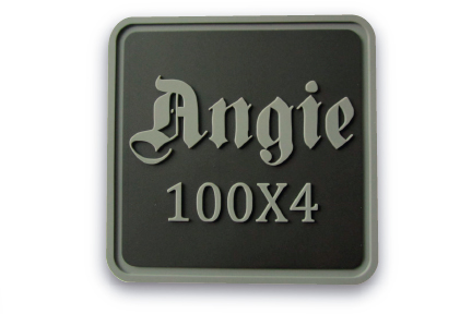 Angie 100 x 4 square + 2 color PVC Morale Patch
