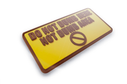 Do not Dumb here. Not dumb area Soft Rubber PVC + 2 color + 2D Morale Patch