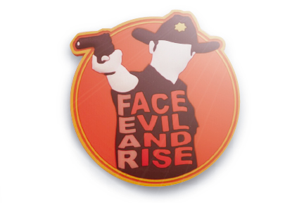 Face Evil and Rise PVC morale patch