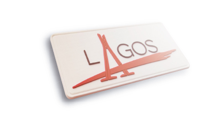 Lagos Custom Patch for hat white