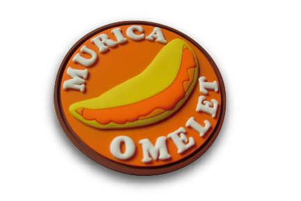 Murica OMELET + 5 color Morale Patch